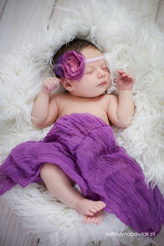 Lila sesja niemowleca Kalisz 016